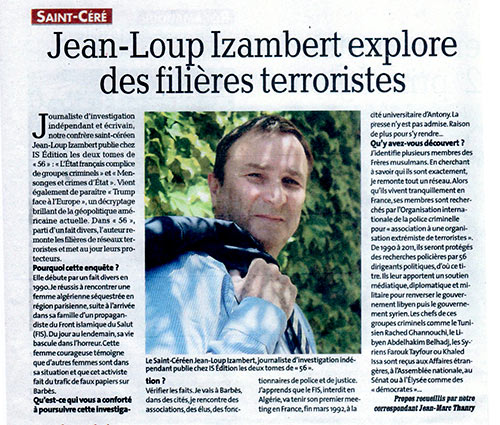 Article sur La Dépêche du Midi consacré à Jean-Loup Izambert