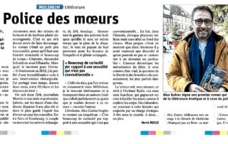 """Article de Les Dernières Nouvelles d'Alsace sur """"L'inconfort du plaisir"""" (Alex Guirec)"""