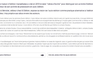 Interview de Harald Bénoliel par l'Agence Régionale du Livre PACA