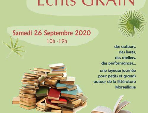 Marie NOCENTI sera au salon Écrits Grains à Marseille le 26/09/20 pour présenter son nouveau livre !