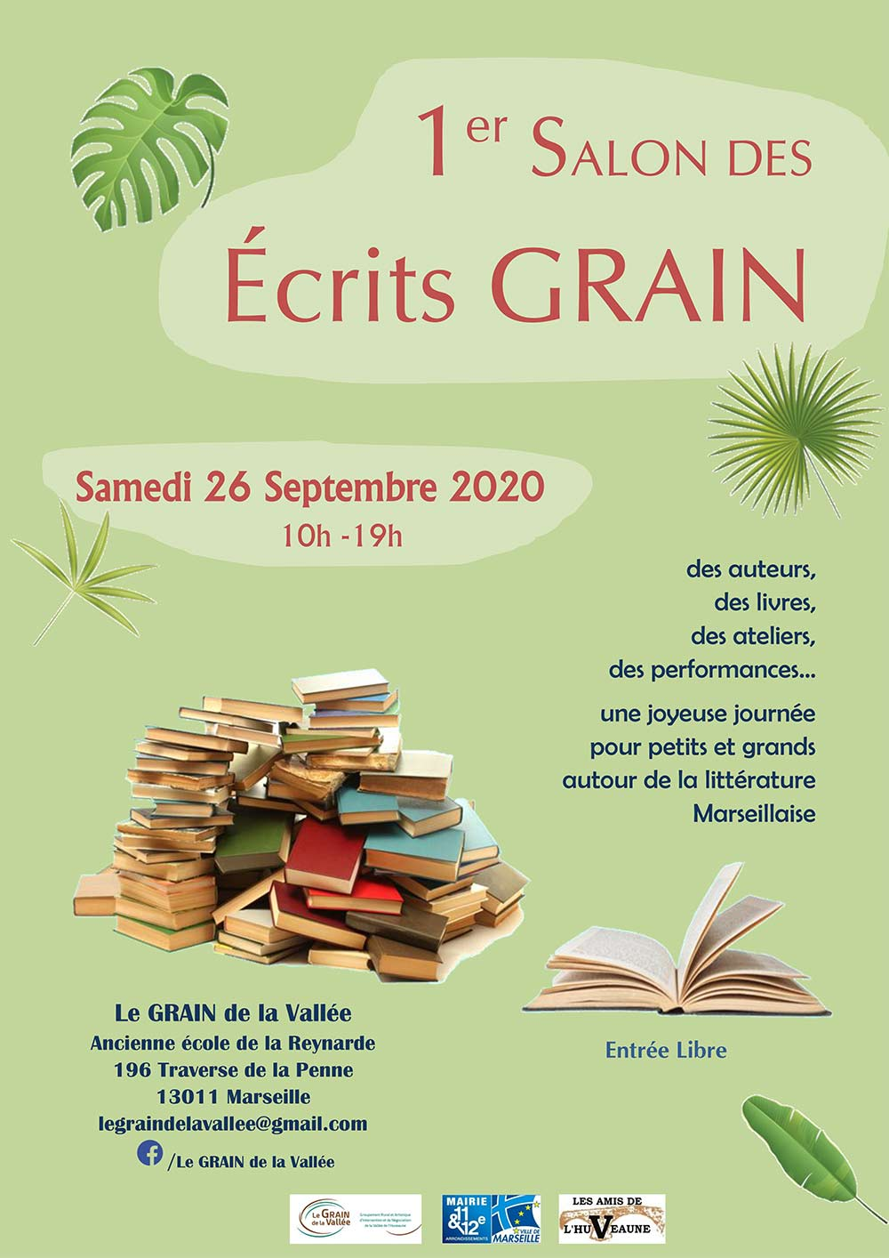 Affiche du salon Écrits grains Marseille