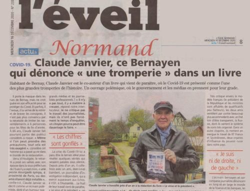 Interview de Claude Janvier («Le virus et le Président») dans L'Éveil Normand