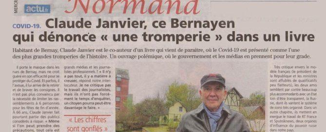 """Interview de Claude Janvier (""""Le virus et le Président"""") dans L'Éveil Normand"""
