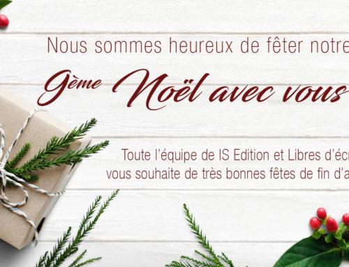 IS Edition et Libres d'écrire vous souhaitent de joyeuses fêtes !