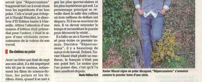 """Article sur Xavier Massé (""""Répercussions"""")"""