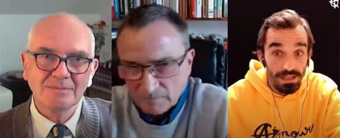 """Claude Janvier et Jean-Loup Izambert (""""Le virus et le Président"""") dans l'émission """"Penseur Hétérodoxe"""" de Point Info"""