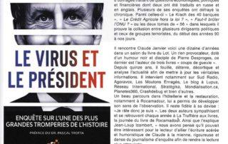 """Article consacré au livre """"Le virus et le Président"""" sur la revue La Terre et l'Encrier"""""""