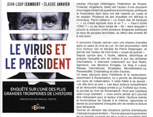 Article consacré au livre «Le virus et le Président» sur la revue La Terre et l'Encrier