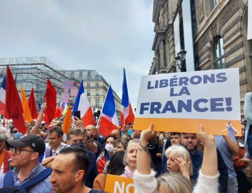 Article de Claude Janvier («Le virus et le Président») sur le site Mondialisation.ca au sujet des manifestations contre le Pass Sanitaire