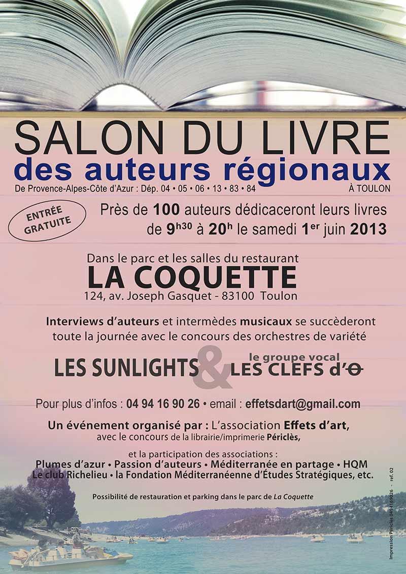 Is edition sera au salon du livre des auteurs r gionaux le - Salon du livre toulon ...